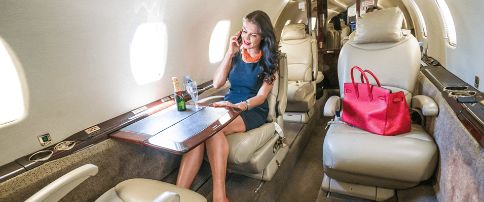Woman Private Jet