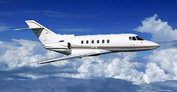 Hawker 800XP private jet