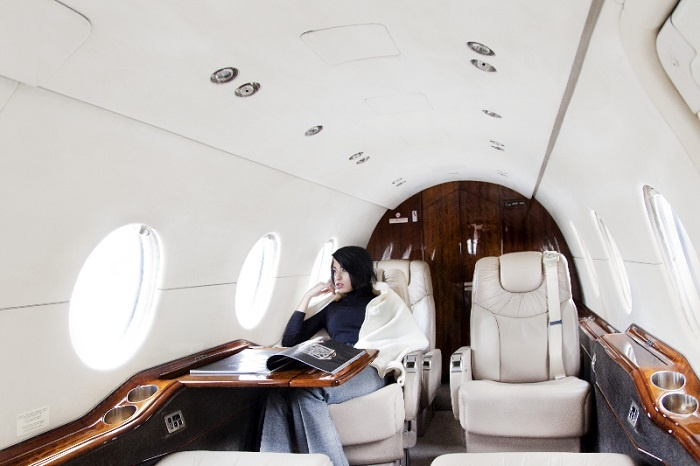 Hawker 400XP Jet Charter Interior