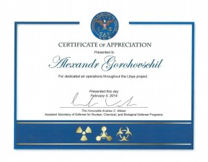 Aleksandr Cert of Appreciation