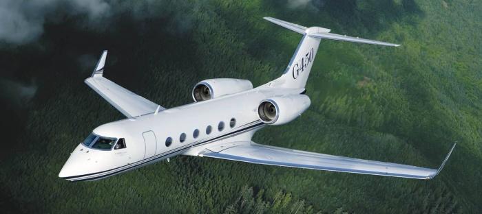 Gulfstream G450 jet exterior