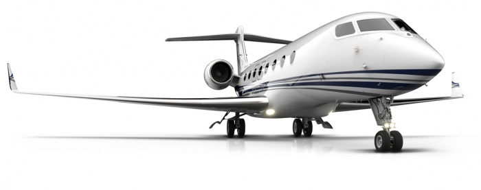 Gulfstream G650ER with blended winglets