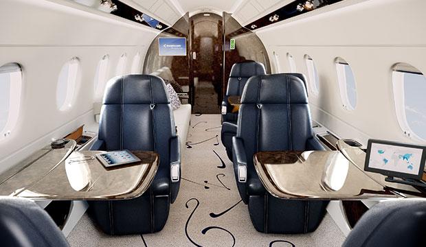 Embraer Legacy 500 interior jet charter 1
