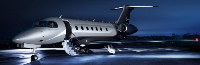 Embraer Legacy 500 exterior jet charter