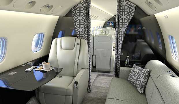 Embraer Legacy 650 interior jet charter 2