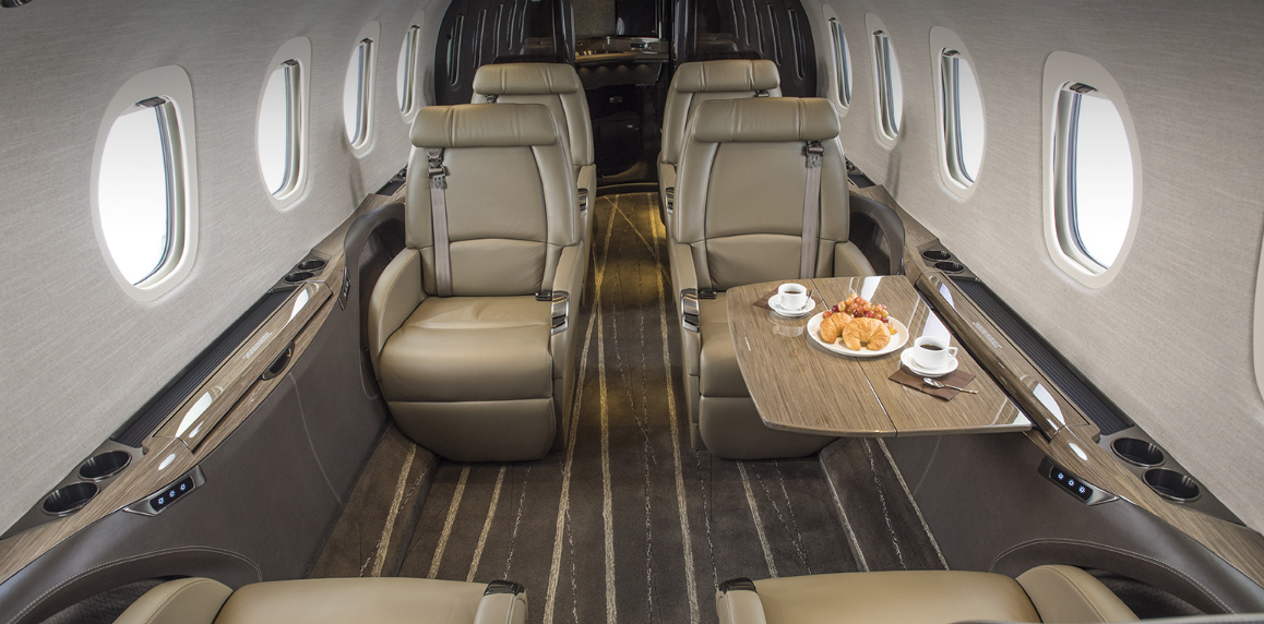 Cessna Citation Latitude private jet charter interior