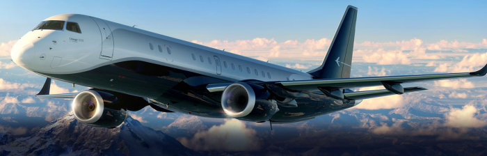 Embraer Lineage 1000E exterior jet charter