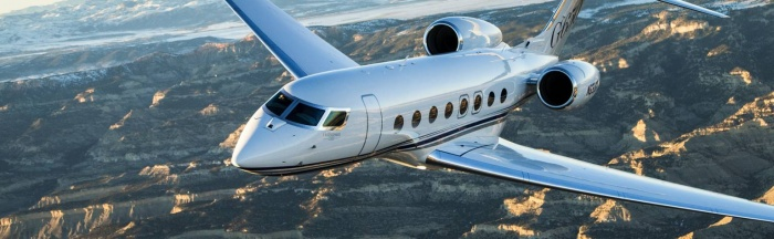 Gulfstream G650 private jet charter exterior