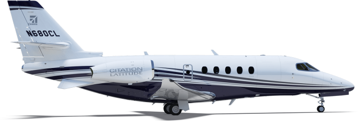 Cessna Citation Latitude private jet charter exterior