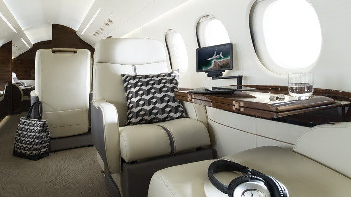 Falcon 7x private jet aircraft exterior