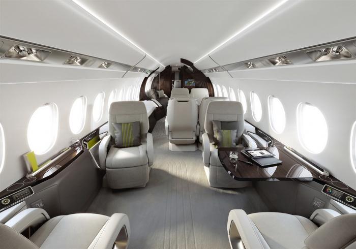 Falcon 5X private jet charter interior