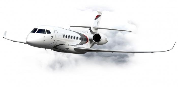 Falcon 5X private jet charter exterior
