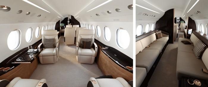 Dassault Falcon 8x jet charter interior