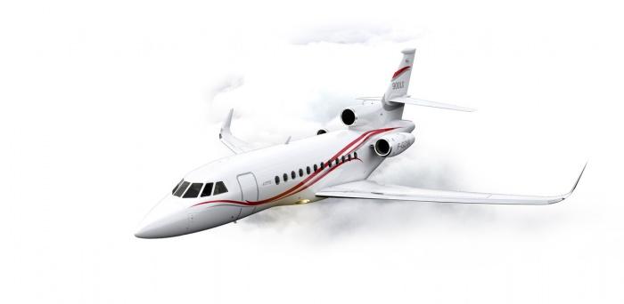 Falcon 900LX exterior private jet charter