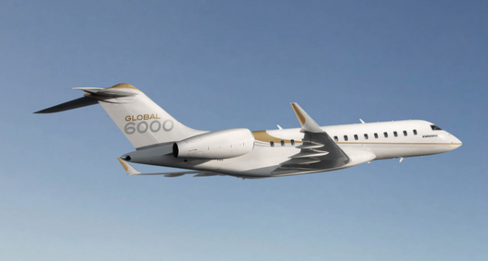 Bombardier Global 6000 jet charter exterior