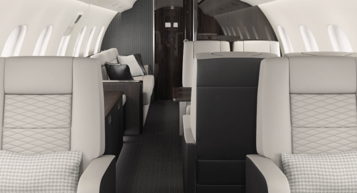 Bombardier Global 6000 jet charter interior