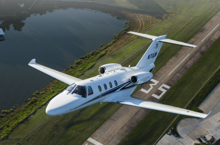 Citation M2 private jet air charter exterior