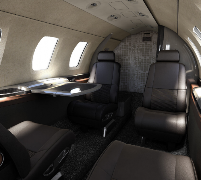 Citation M2 interior private jet charter