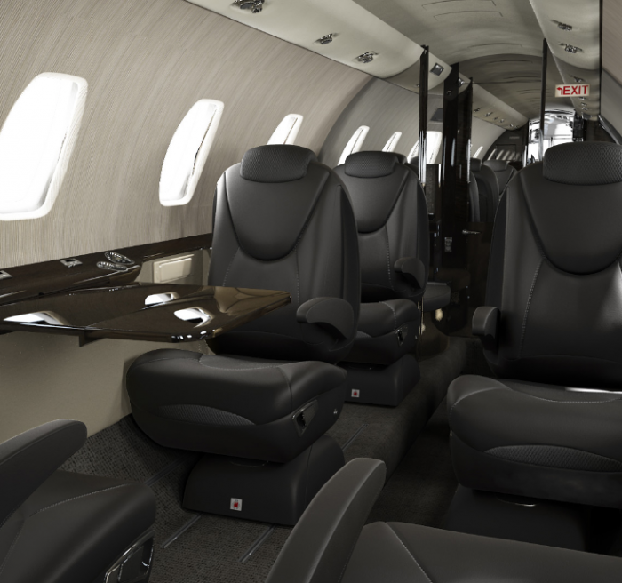 Cessna Citation XLS+ business jet interior