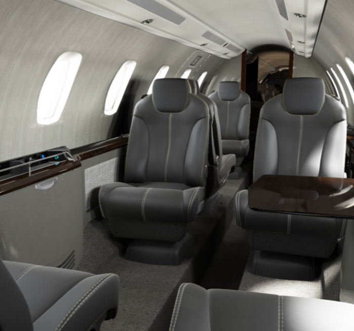 Citation X+ jet charter interior