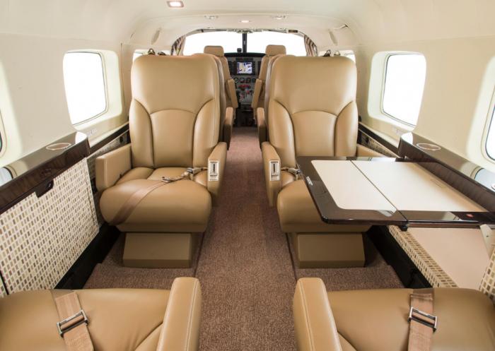 Cessna Grand Caravan interior jet charter