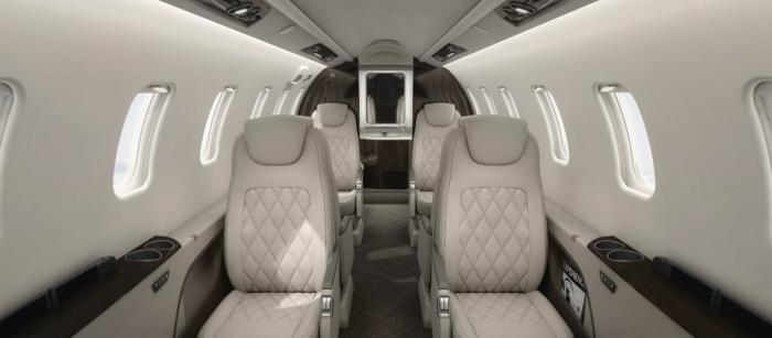 Learjet 75 jet charter interior