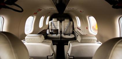SOCATA TBM 930 jet charter interior 1