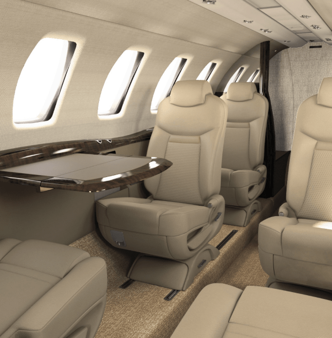 Cessna Citation CJ4 interior