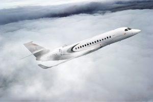 Falcon 6X exterior private jet