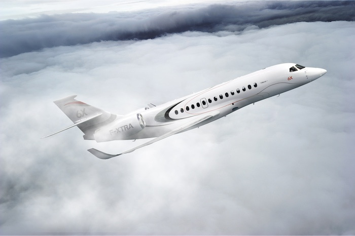 Falcon 6X Exterior Private Jet