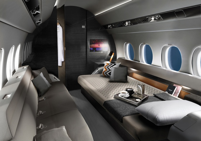 Falcon 6X Interior Private Jet