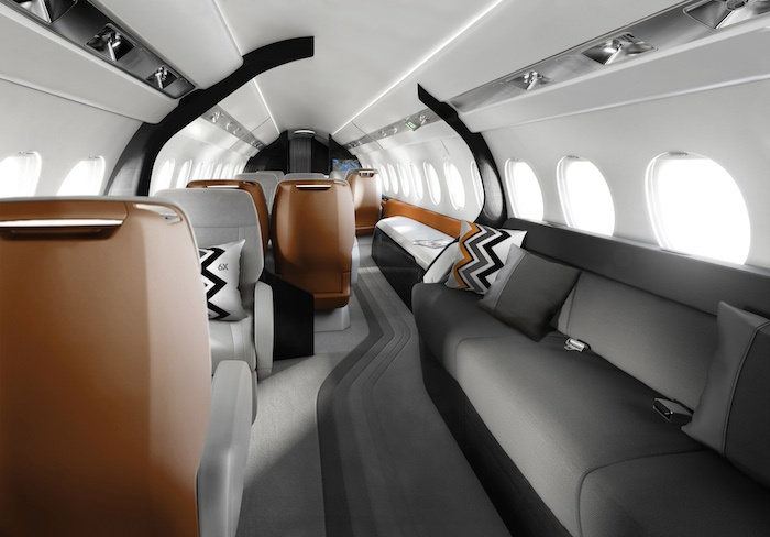 Falcon 6X Interior Private Jet 2