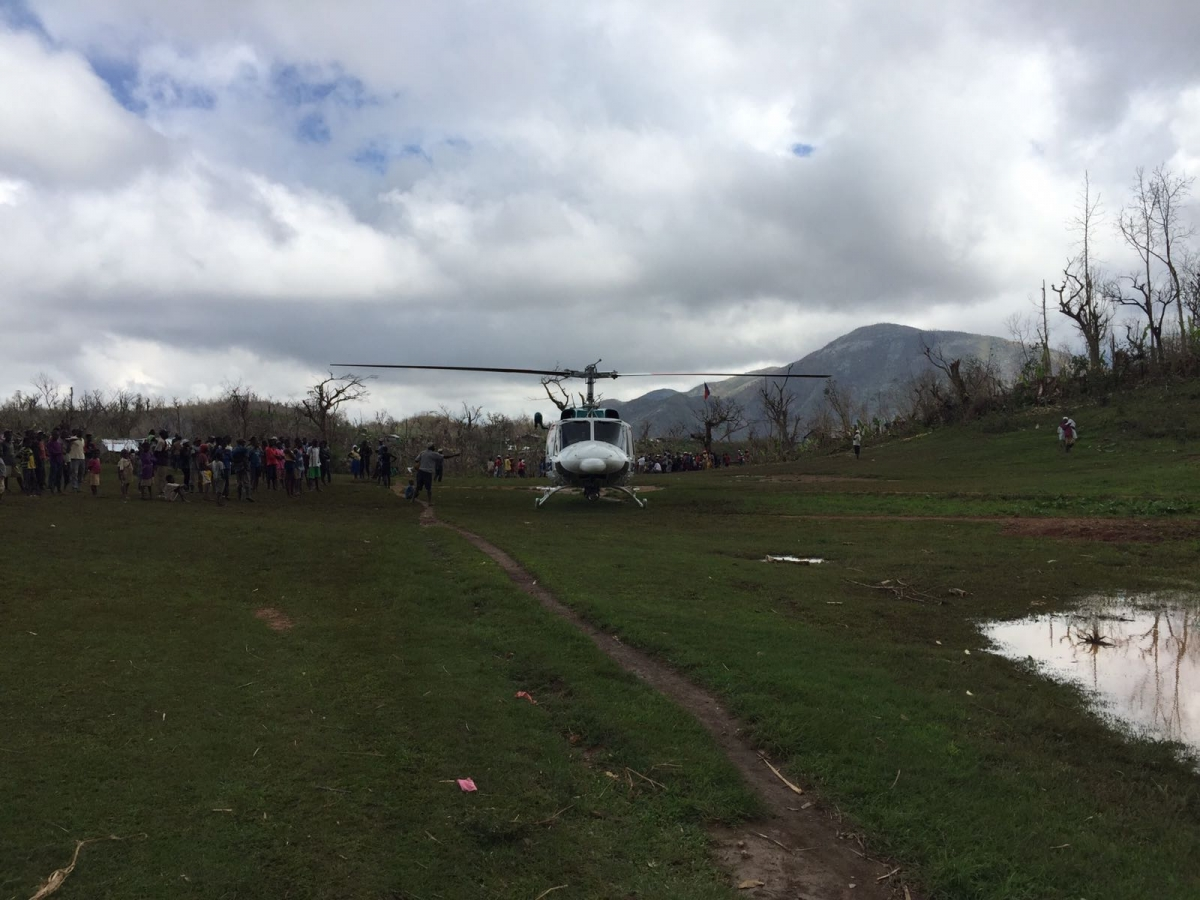 Helicopter Charter in the Bahamas, to support the relief efforts post Hurricane Dorian