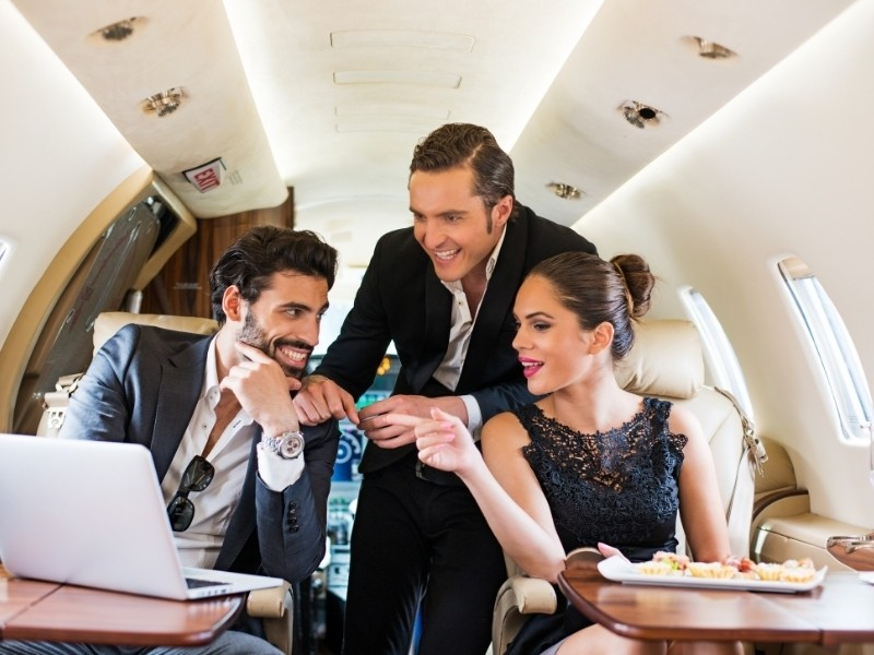 Private Jet Charter Flights for Group Travel