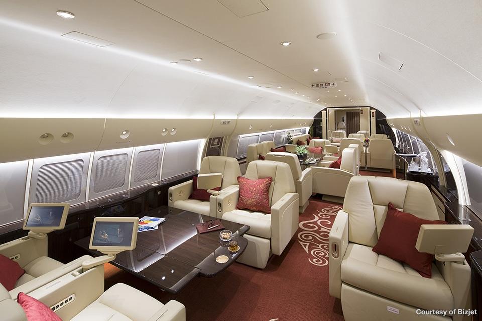 boeing business jet interior